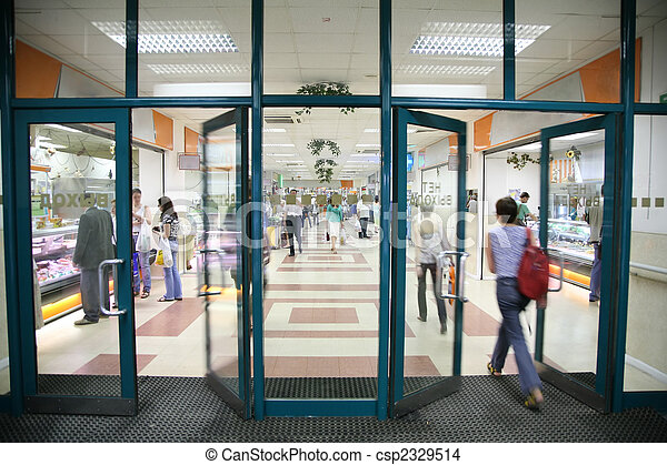 the entrance into the store - csp2329514