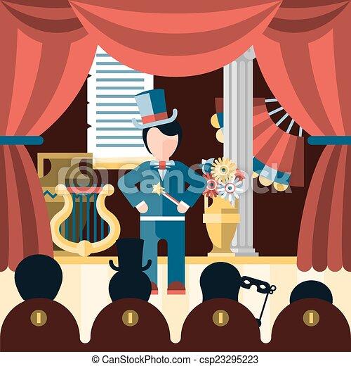 Illustration vecteur de th tre jeu concept th tre - Dessin de theatre ...