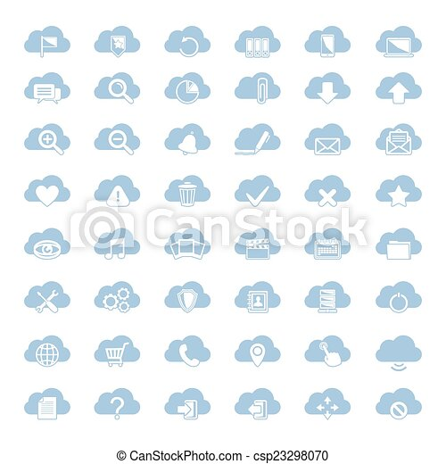 Cloud Shapes Drawing Blue Cloud Shapes With