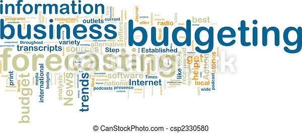Budgeting wordcloud - csp2330580