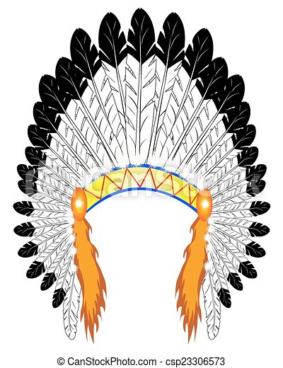 Indian chief Vector Clip Art Illustrations. 980 Indian chief ...