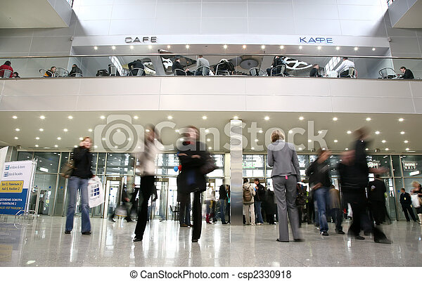 People in business center - csp2330918