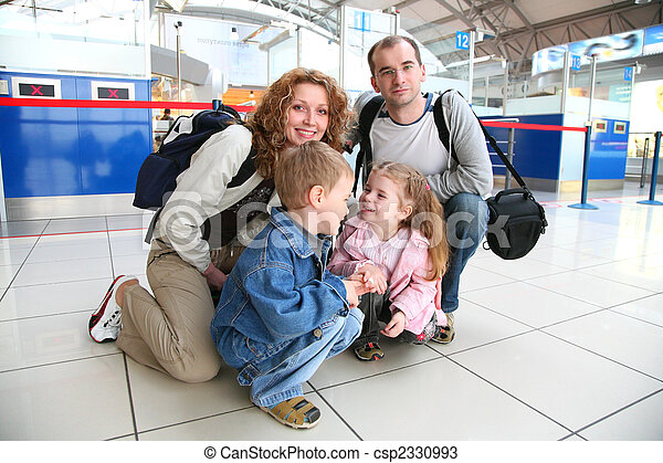 traveling family - csp2330993