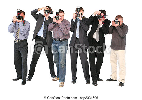 Stock image of paparazzi 2 isolated csp2331506 search for Paparazzi clipart