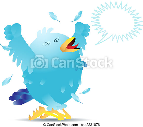 Screaming twitter bird - csp2331876