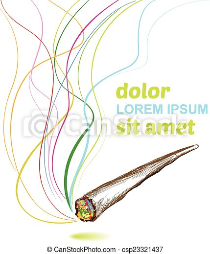 Vectors of joint smoking weed background csp23321437 ...