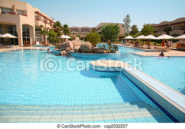 hotel pool umbrella - csp2332207
