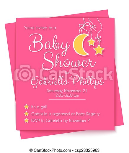 Baby Shower Invitation Template - csp23325963