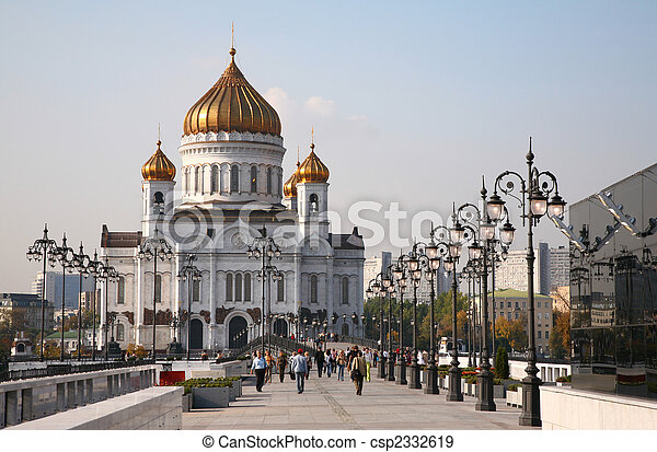The Cathedral of Christ the Savior in Moscow - csp2332619