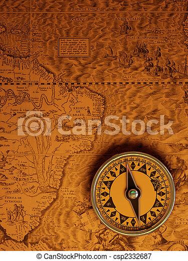 Antique compass - csp2332687
