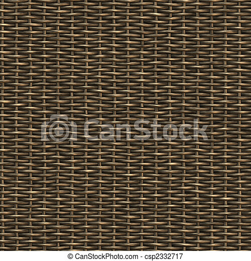 Seamless woven wicker material.This tiles as a pattern in any direction. - csp2332717