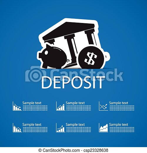 deposit bank icons design - csp23328638
