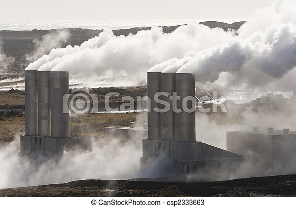 Geothermal Power Station in Iceland - csp2333663