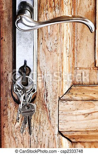 Door handle with keys - csp2333748