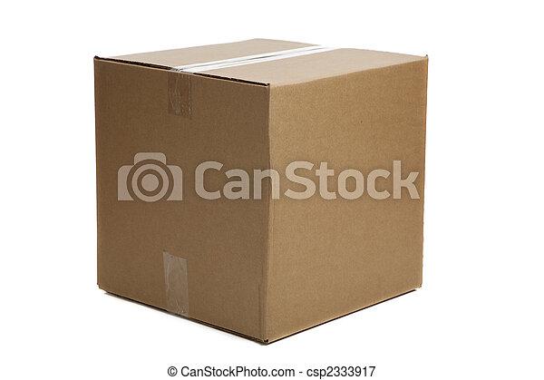 Blank Closed Cardboard Box - csp2333917