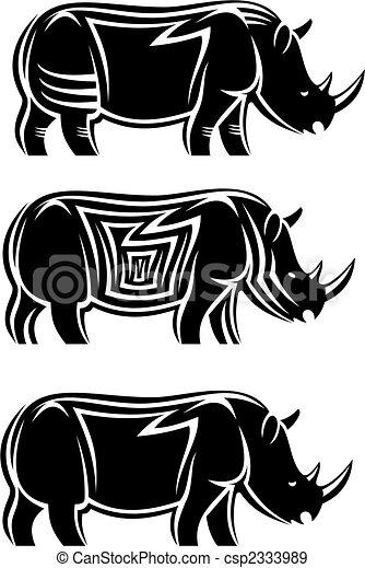 Wild rhinoceros - csp2333989