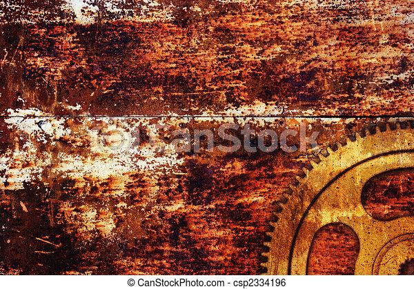 Illustration de rouill m tal fond engrenage sur rouill m tal fond csp2334196 - Enlever la rouille sur aluminium ...