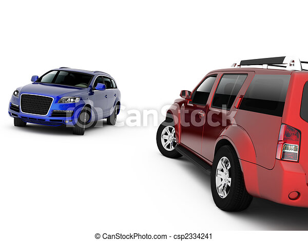 Two cars presentation - csp2334241