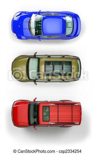Set of top-view cars - csp2334254