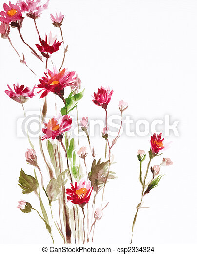 painting of flowers - csp2334324