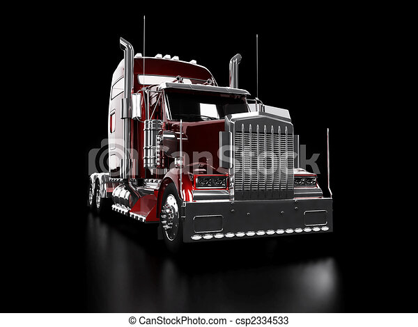 Red heavy truck - csp2334533