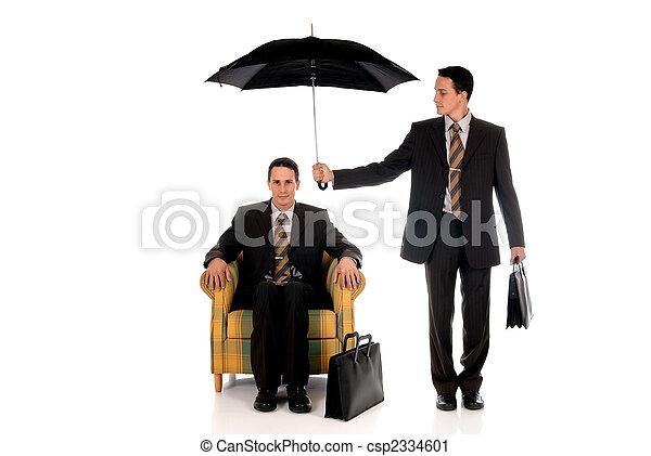Businessman insurance agent - csp2334601