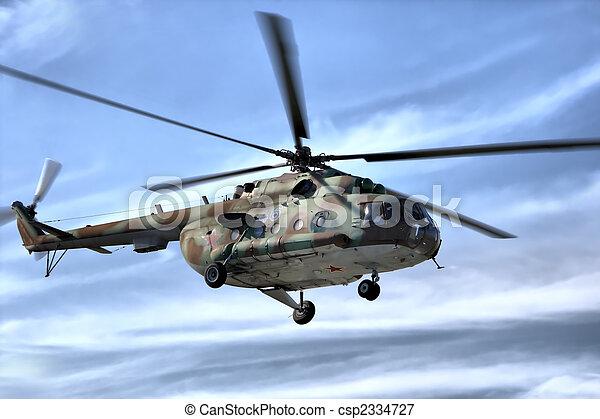 軍, 空, ヘリコプター - csp2334727