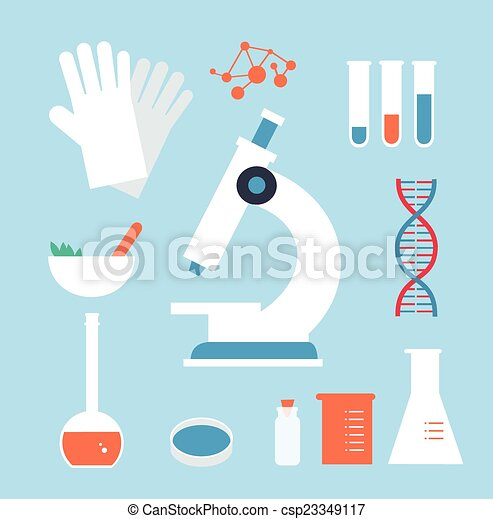 desktop medical laboratory illustration royalty free