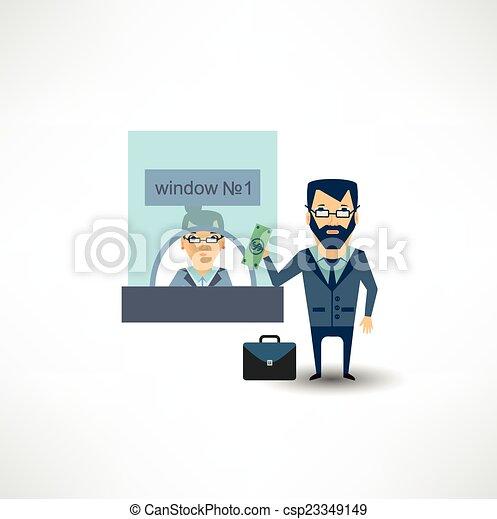 銀行, 金銭出納係 csp23349149のEPS ...