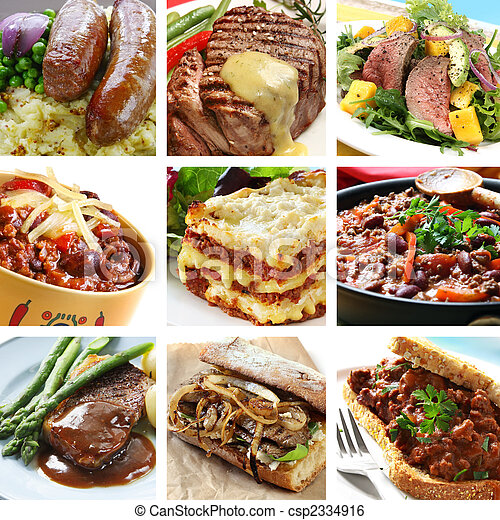 Beef Meals Collage - csp2334916