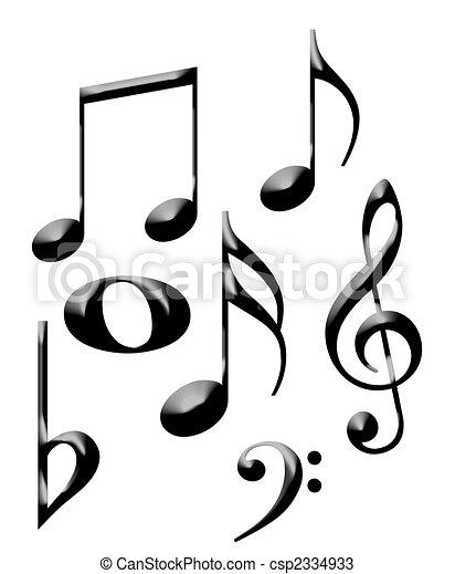 Musical notes - csp2334933