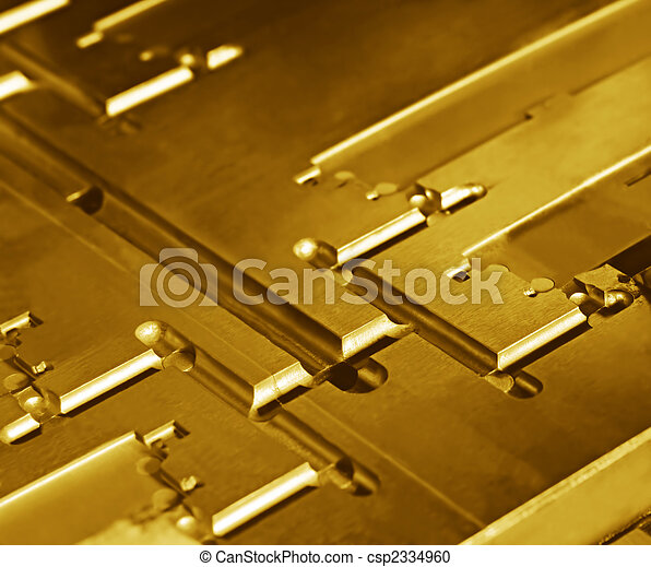 Metallic Abstract in Gold - csp2334960