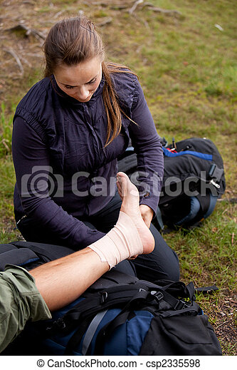 Ankle Tensor Bandage - csp2335598