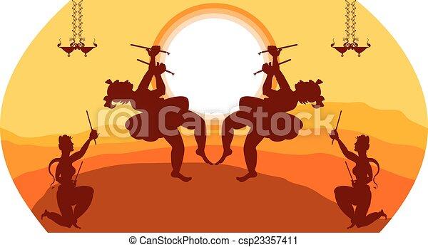 Vector Clip Art of Garba Indian Dance Vector Art ...