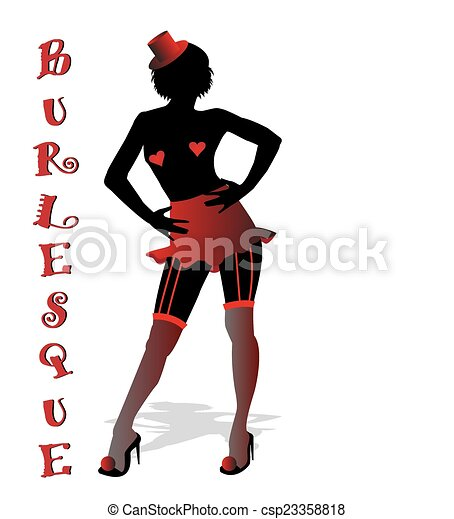 Burlesque Clip Art Illustration