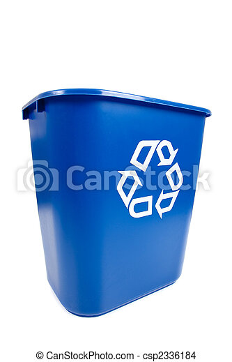 Blue Recucle BIn - Recycling, Environmental theme - csp2336184