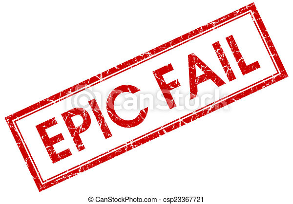 Epic Fail Clipart Epic Fail Red Square Stamp