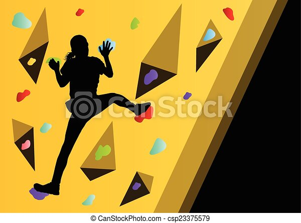 Vectors Illustration of Children rock climber sport athletes ...