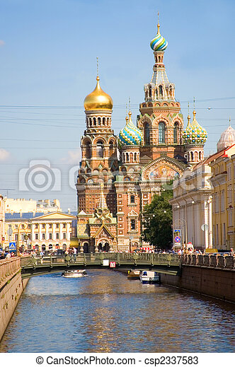 View of Church of the Savior on Spilled Blood, St.Petersburg, Russia - csp2337583
