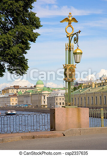Bridges of St.Petersburg. Panteleymonovsky Bridge across the Fontanka river - csp2337635