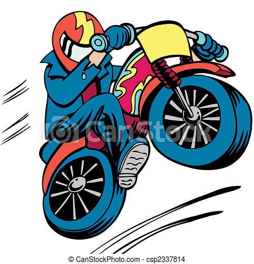 Motorcycle Man - csp2337814