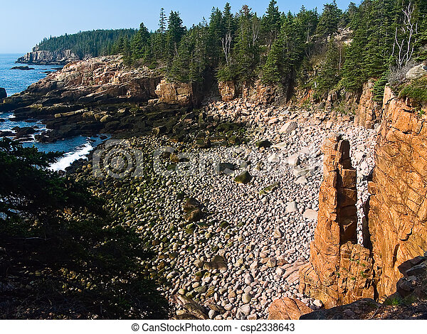 Monument Cove Seastack, Acadia National Park, Maine - csp2338643