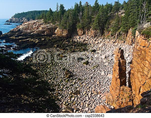 Monument Cove Seastack, Acadia National Park, Maine - csp2338643