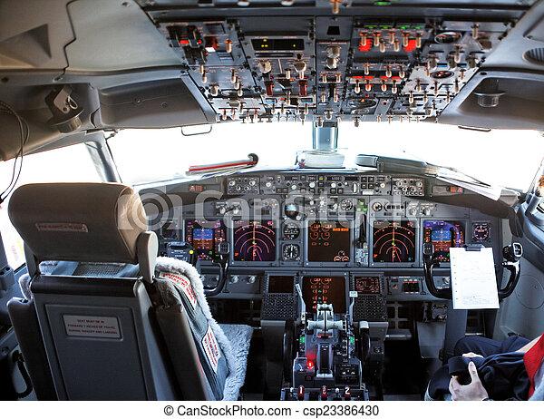 cockpit of an aircraft - csp23386430