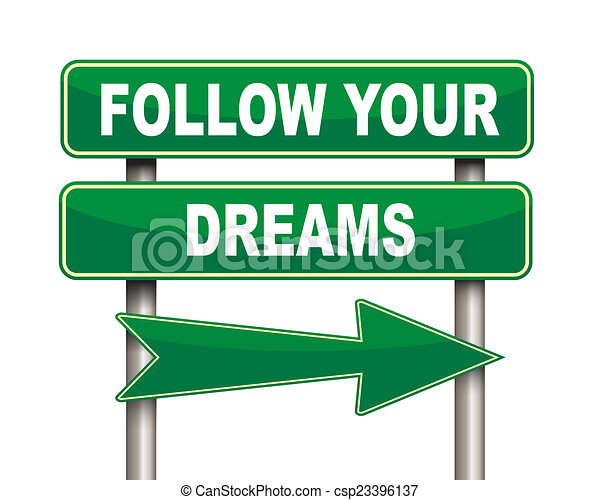 Follow Your Dreams Clipart Follow your dreams green road