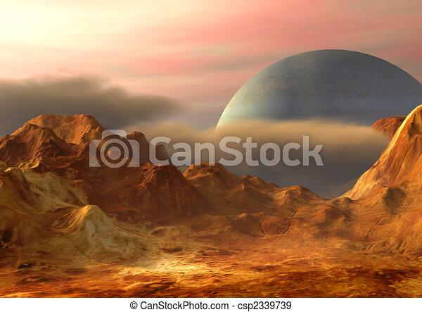 Illustration de paysage espace imaginaire paysage sur for Paysage espace