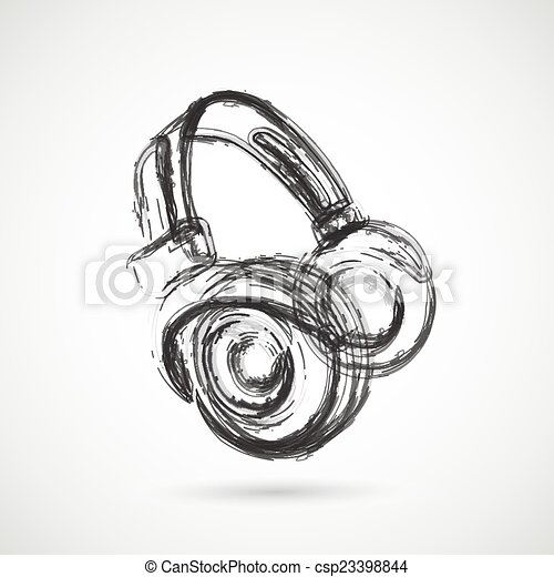Grunge Line Drawings Grunge Headphones Easy All