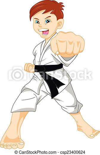 illustration vecteur de karat u00e9  gar u00e7on illustration  de taekwondo clip art kids tae kwon do clip art free black and white