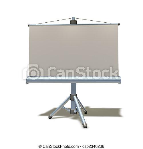 3d presentation equipment illustration - csp2340236