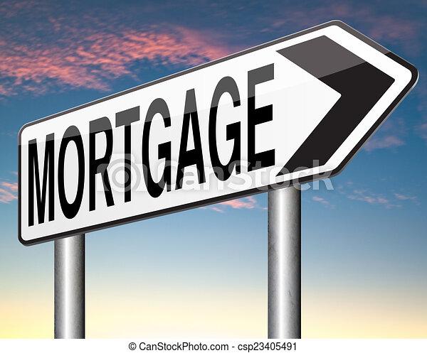 Illustration de hypoth que maison pr t payant argent co ts dos c - Hypotheque maison pour pret ...